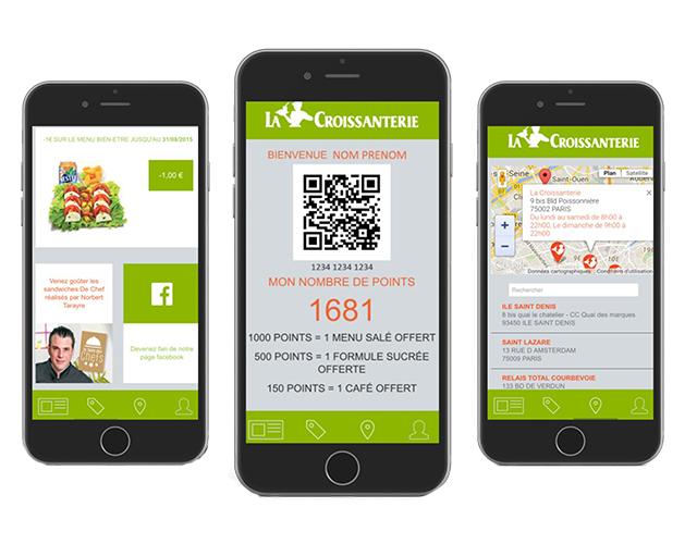 La Croissanterie Application Mobile