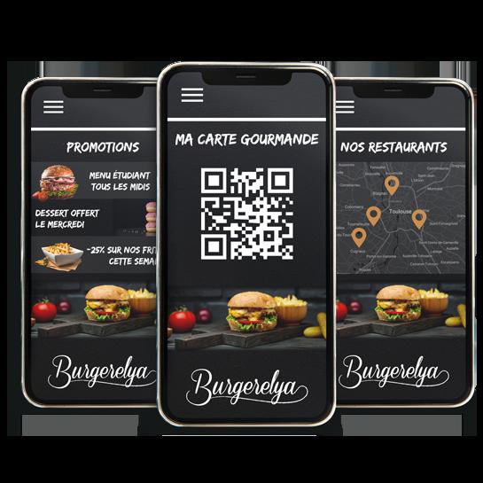 Application mobile fidélité restaurant