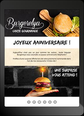 Mail automatique d'anniversaire