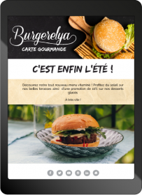Newsletter restaurant nouveau menu