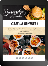 Newsletter restaurant rentrée des classes